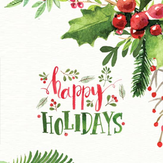 Fermeture pour les vacances de Noël